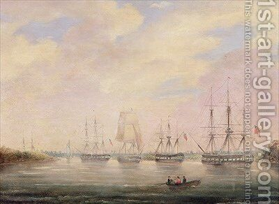 View of Port Adelaide South Australia by Colonel William Light - Reproduction Oil Painting