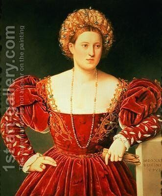 Portrait of a Lady by Bernardino Licinio - Reproduction Oil Painting