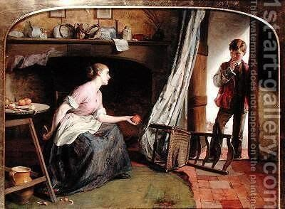 Temptation 1868 by Charles Sillem Lidderdale - Reproduction Oil Painting