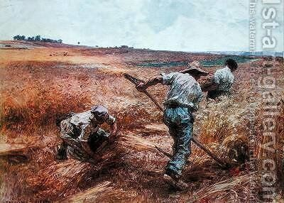 Harvesting Scene 1897 by (after) Lhermitte, Leon - Reproduction Oil Painting