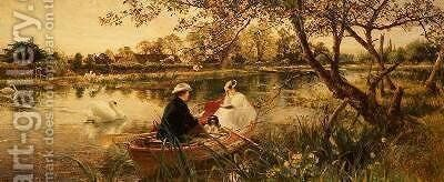 Our Holiday by Charles James Lewis - Reproduction Oil Painting
