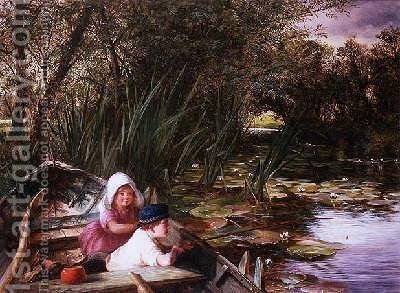 Waiting for a Bite by Charles James Lewis - Reproduction Oil Painting