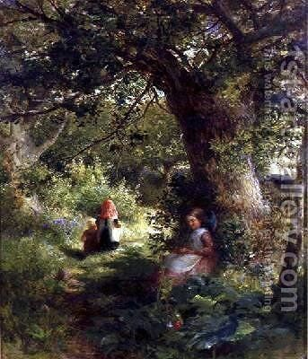 Springtime in the Woods by Charles James Lewis - Reproduction Oil Painting