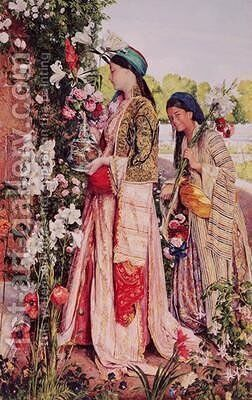 Lilium Auratum 2 by John Frederick Lewis - Reproduction Oil Painting