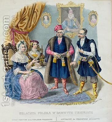 Old Costumes of the Polish Nobility by Jan Lewicki - Reproduction Oil Painting