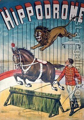 Poster advertising the Hippodrome circus by Charles Levy - Reproduction Oil Painting