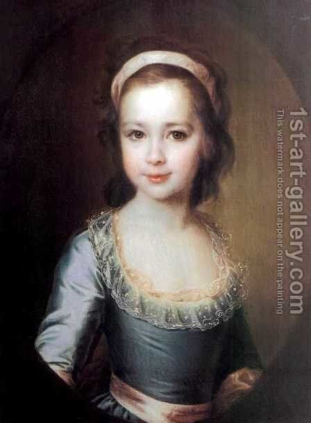 Portrait of Countess Anna Artemyevna Vorontsova 1777-1836 by Dmitry Levitsky - Reproduction Oil Painting