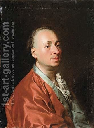 Denis Diderot 1715-84 by Dmitry Levitsky - Reproduction Oil Painting