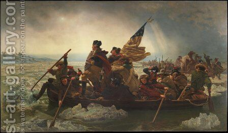 Washington Crossing the Delaware River by Emanuel Gottlieb Leutze - Reproduction Oil Painting