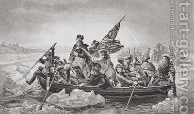 Washington crossing the Delaware near Trenton New Jersey by Emanuel Gottlieb Leutze - Reproduction Oil Painting
