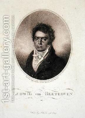 Ludwig van Beethoven 1770-1827 by (after) Letronne, Louis Rene - Reproduction Oil Painting