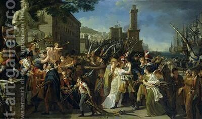 The Enlistment of the Volunteers or The Country in Danger by Guillaume Guillon Lethiere - Reproduction Oil Painting