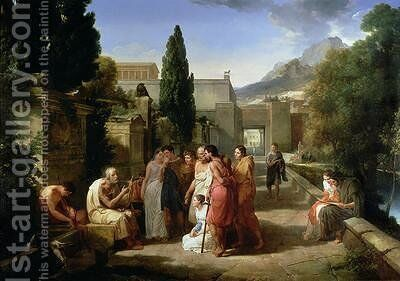 Homer Singing his Iliad at the Gates of Athens by Guillaume Guillon Lethiere - Reproduction Oil Painting