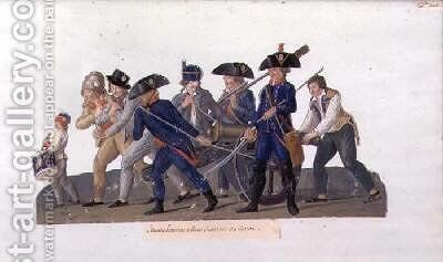 Young Men off to Practise using the Cannon by Brothers Lesueur - Reproduction Oil Painting