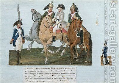 Napoleon Bonaparte 1769-1821 and the Varsovian Sentry by Brothers Lesueur - Reproduction Oil Painting
