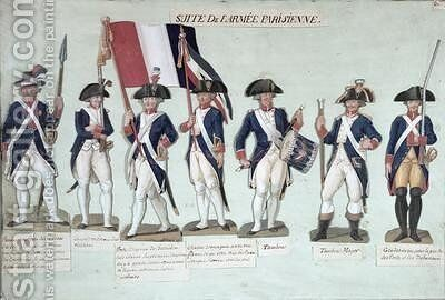 The Parisian Army during the French Revolution by Brothers Lesueur - Reproduction Oil Painting