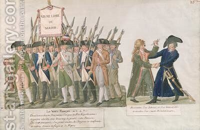 The French Vow Long Live Freedom or Die the Meeting of a Swordsman and a Member of the Revolutionary Committee by Brothers Lesueur - Reproduction Oil Painting