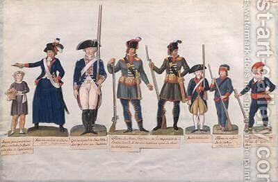 Characters of the French Revolution by Brothers Lesueur - Reproduction Oil Painting