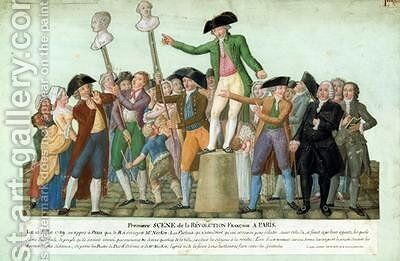 The Beginning of the French Revolution by Brothers Lesueur - Reproduction Oil Painting