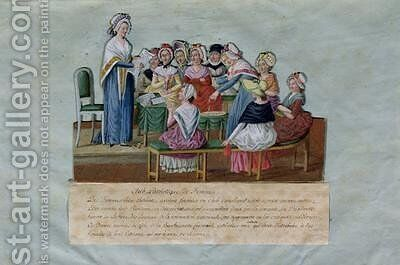 Womens Patriotic Club by Brothers Lesueur - Reproduction Oil Painting