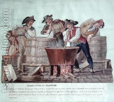Making Saltpetre by Brothers Lesueur - Reproduction Oil Painting
