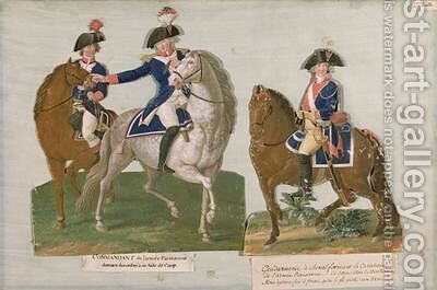 Army Commander and an Officer of the Mounted Police by Brothers Lesueur - Reproduction Oil Painting