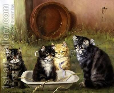 A Bowlful of Mischief by Adrienne Lester - Reproduction Oil Painting