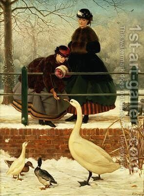 Frozen Out by George Dunlop, R.A., Leslie - Reproduction Oil Painting