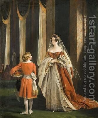 The Duchess of Sutherland in her Coronation Robes 1839 by Charles Robert Leslie - Reproduction Oil Painting