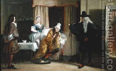 Scene from Le Malade Imaginaire by Charles Robert Leslie - Reproduction Oil Painting