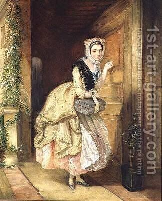 Knocking at the Door by Charles Robert Leslie - Reproduction Oil Painting