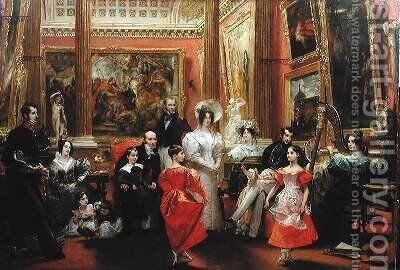 The Grosvenor Family 2 by Charles Robert Leslie - Reproduction Oil Painting