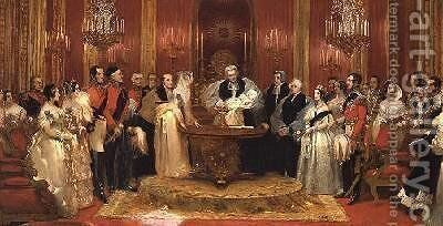 Christening of the Princess Royal by Charles Robert Leslie - Reproduction Oil Painting