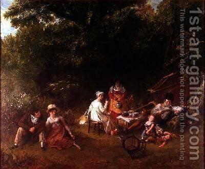 Londoners Gypsying 1820 by Charles Robert Leslie - Reproduction Oil Painting