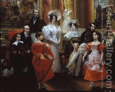 The Grosvenor Family 3 by Charles Robert Leslie - Reproduction Oil Painting