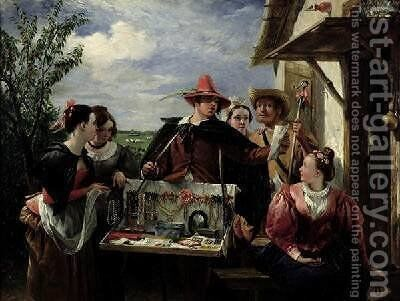 Autolycus scene from A Winters Tale by Charles Robert Leslie - Reproduction Oil Painting