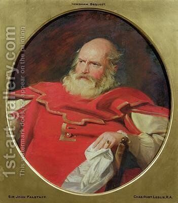 Sir John Falstaff by Charles Robert Leslie - Reproduction Oil Painting