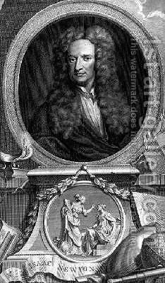 Sir Isaac Newton 1642-1727 by Charles Robert Leslie - Reproduction Oil Painting