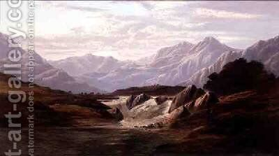 Evening in Glencoe by Charles Leslie - Reproduction Oil Painting