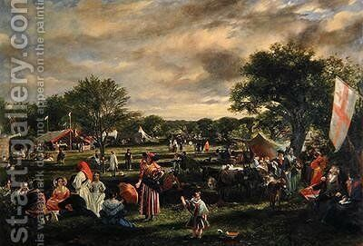 Fairlop Fair by Charles Leslie - Reproduction Oil Painting