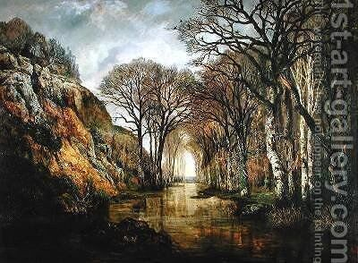 The Erdre Winter by Charles Leroux - Reproduction Oil Painting