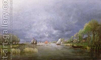 Banks of the Loire in Spring Storm Effect by Charles Leroux - Reproduction Oil Painting