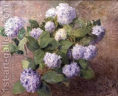 Blue Hydrangeas by Henri Lerolle - Reproduction Oil Painting