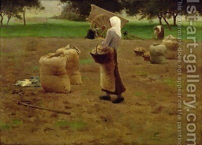 Harvesting Potatoes by Henri Lerolle - Reproduction Oil Painting