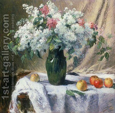 Vase of flowers by Henri Lerolle - Reproduction Oil Painting
