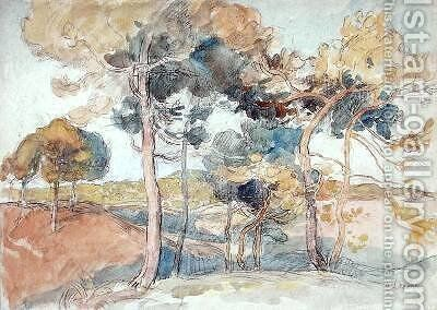 The Great trees by Auguste Lepere - Reproduction Oil Painting