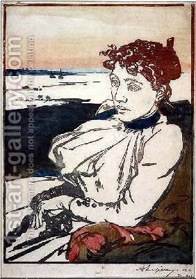 La Convalescante Mme.Lepere by Auguste Lepere - Reproduction Oil Painting