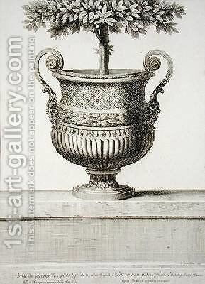 Bronze vase at Versailles by Jean Lepautre - Reproduction Oil Painting