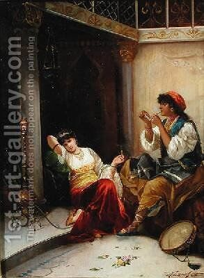 The Harem Beauties by Carl Libert August Lentz - Reproduction Oil Painting