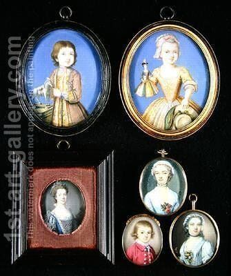 Portrait Miniatures by Bernard III Lens - Reproduction Oil Painting